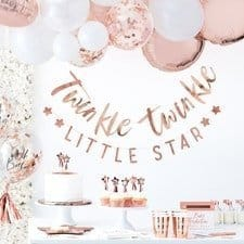 Twinkle Twinkle Little Star Decorations for a shower or birthday party