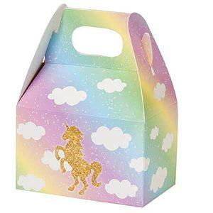 Pastel unicorn party gable boxes