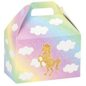 Large gable box with unicorn in rainbow colors