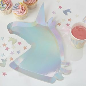 Unicorn Party Plates Pastels