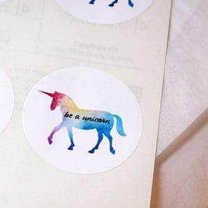 Unicorn Stickers - Be A Unicorn
