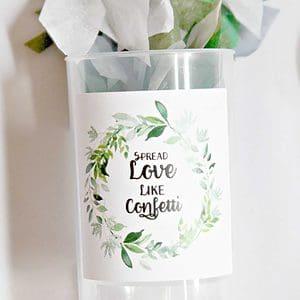 EnFete Wedding Confetti Poppers Spread Love Like Confetti