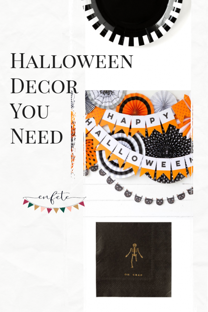 Halloween Party Decor for 2019 - Must haves for your haunted house party Personalized pumpkin ideas and a fall donut wall display.