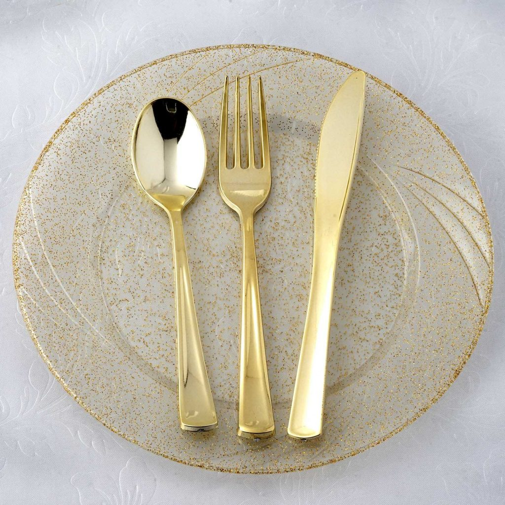 Gold Cutlery is perfect for a little girl's princess party