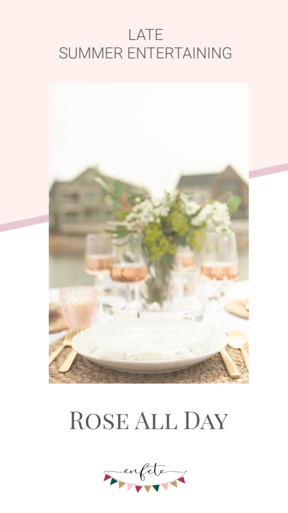 blush wines for your bridal shower, night with girlfriends or late summer entertaining