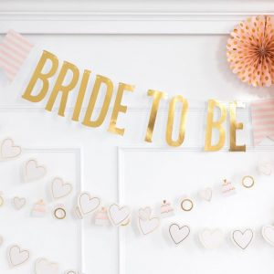 Gold Bride to Be Banner for an Elegant Wedding Shower
