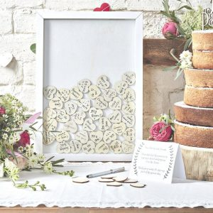 VIrtual Party Alternative Guest book - heart drop top frame