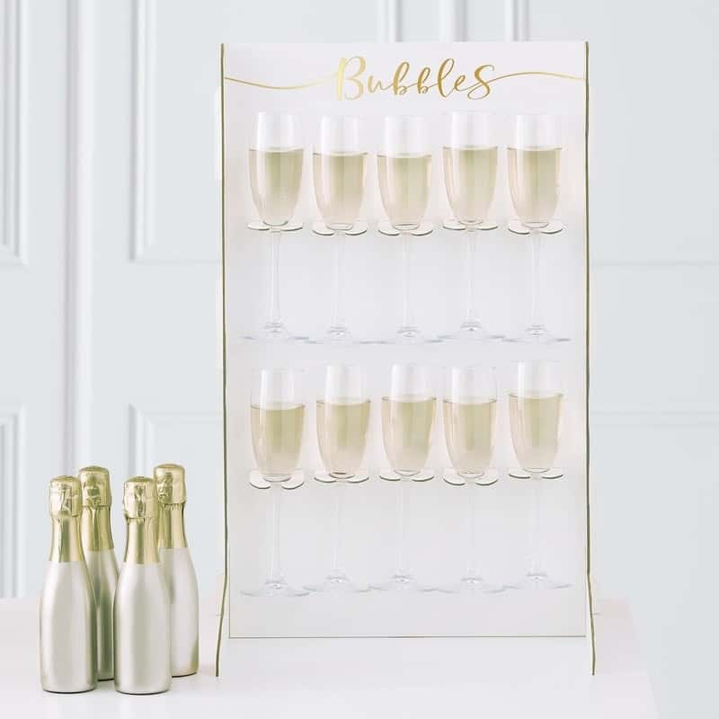 Prosecco Stand for a fun party Champagne wall