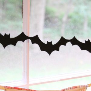 Felt Bat Halloween Garland