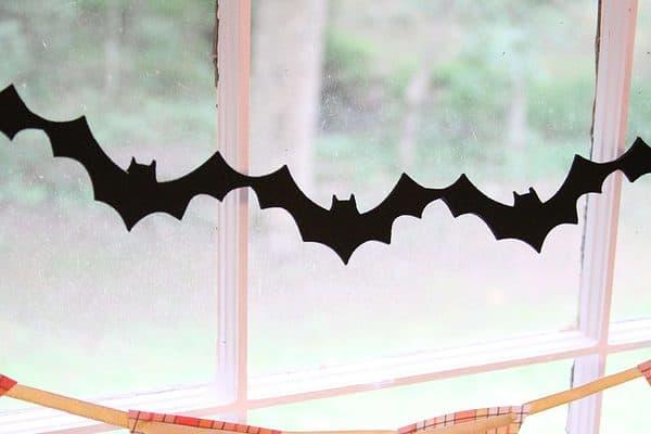 Felt Bat Halloween Garland
