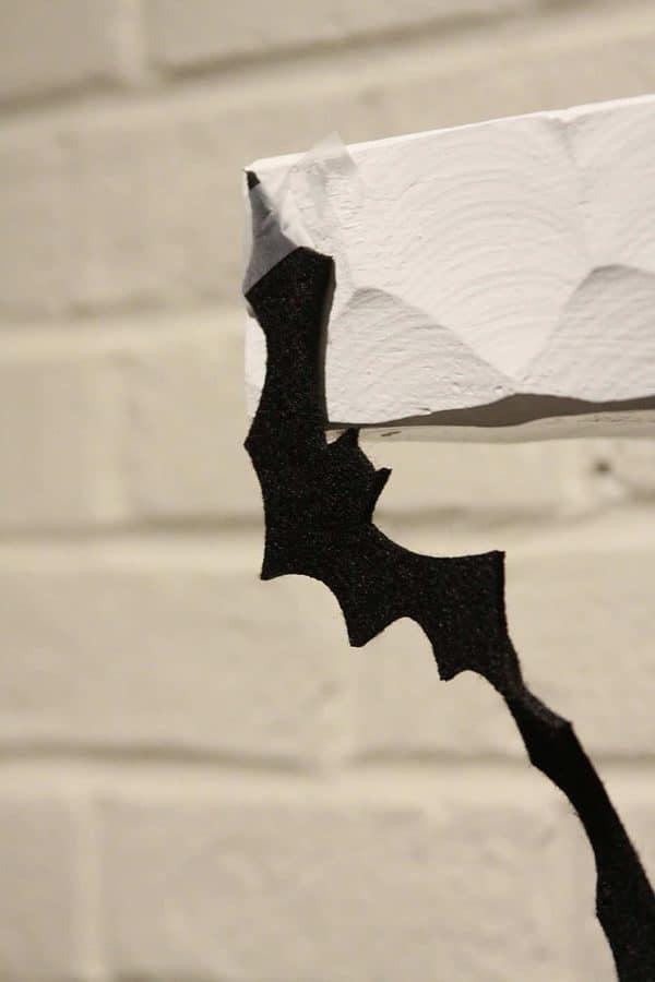 Felt Bat Garland for Halloween