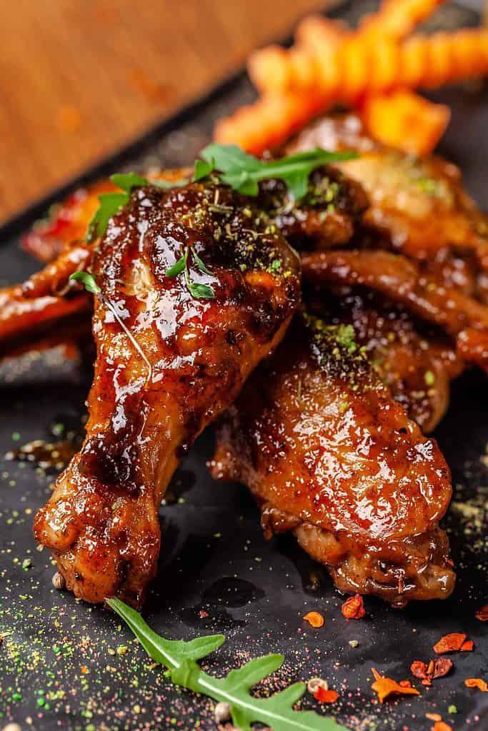 jam glazed chicken legs