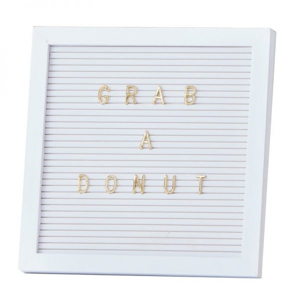 White Letter Board with Gold lettes