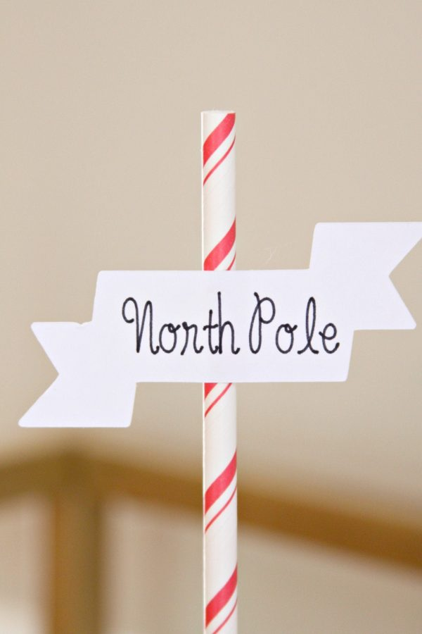 North Pole Cake topper for Polar Express Party