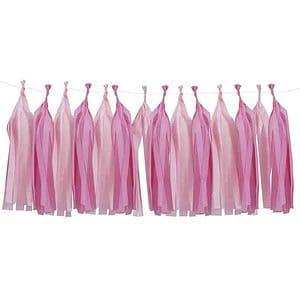 Pink and Blush Tassel Garland Kit Pink Party Supplies