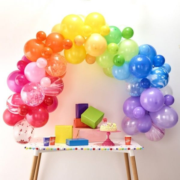 Rainbow balloon garland kit - makes the perfect balloon arch for a rainbow or unicorn party