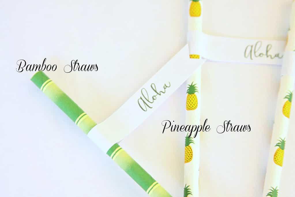 tropical drink straws for luau mango iced tea