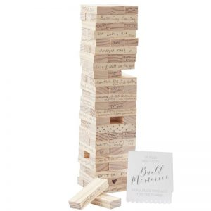 Wedding Guest Book Alternative - Jenga Style Building Blocks