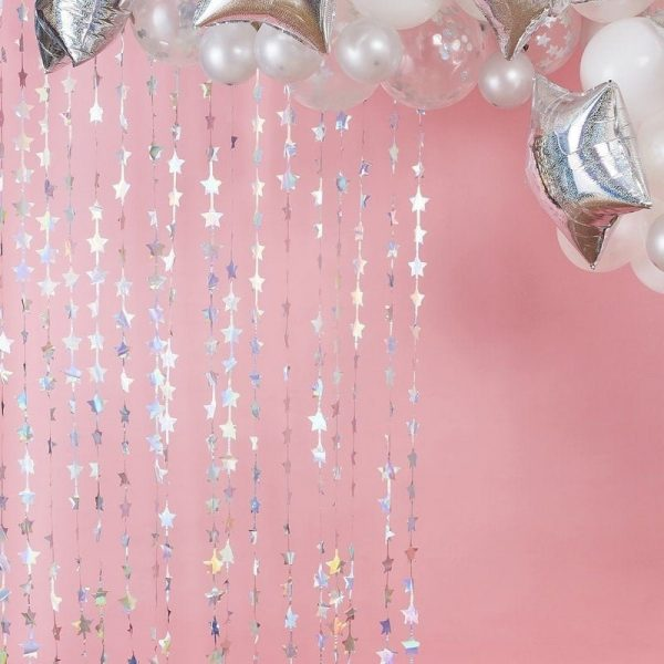 Iridescent Star Fringe Curtain