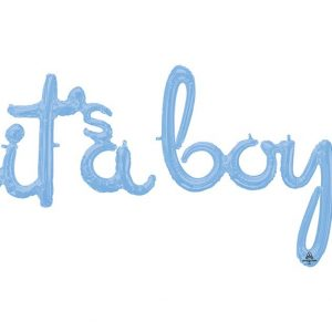 It's a Boy Baby Shower Balloon. Script it's a boy banner.