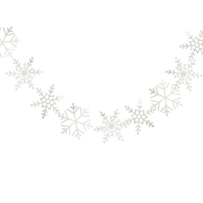 Snowflake Garland for a Baby It's Cold Outside Baby Shower or winter wedding