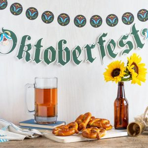 Oktoberfest Beer Tasting Garland and Plates