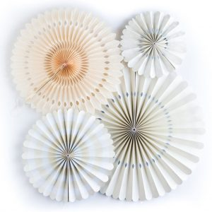 Paper Backdrop Fans