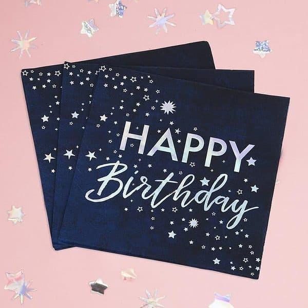 celestial happy birthday napkins