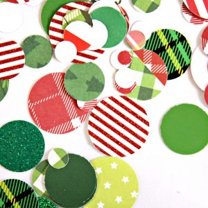 Chrsitmas confetti in green and red plaids. Perfect for a Grinch party