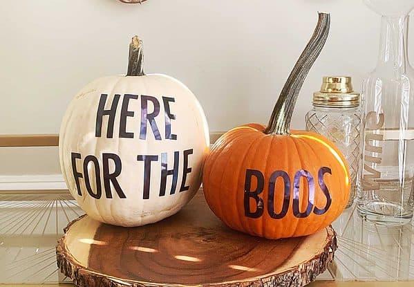 Pumpkin decorating stickers for a no carve pumpkin idea