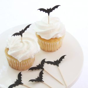 Spooky Bat Cupcake Toppers for a Halloween party of classroom party