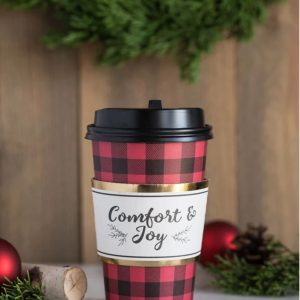 Red and Black Buffalo Plaid Coffee andHot Cocoa Bar