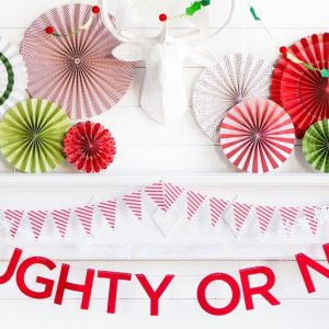 Naughty or nice felt garland