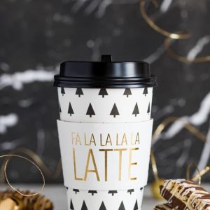 Fa La La La Latte Coffee to Go Cups