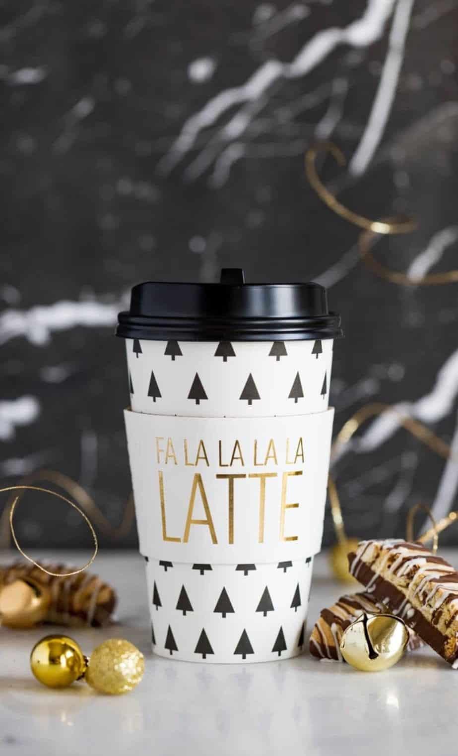 Coffee To Go Cups Fa La La La Latte Enfete