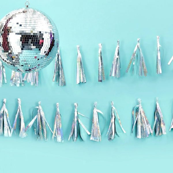 Silver Tassel Garland for NYE and disco parties