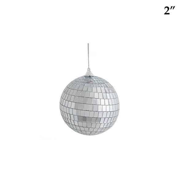 2 inch mirrored disco ball ornament
