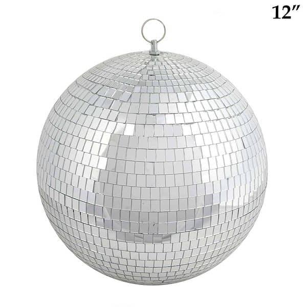 12 inch mirrored disco ball