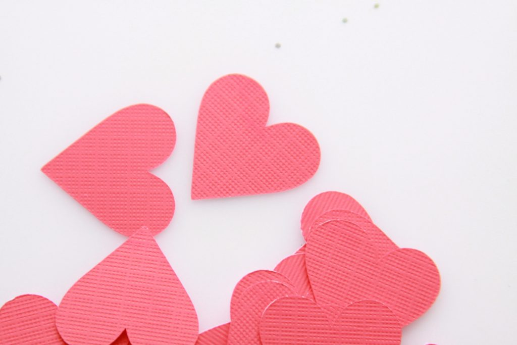 Galentine's Day Table Scatter - Red Paper Hearts