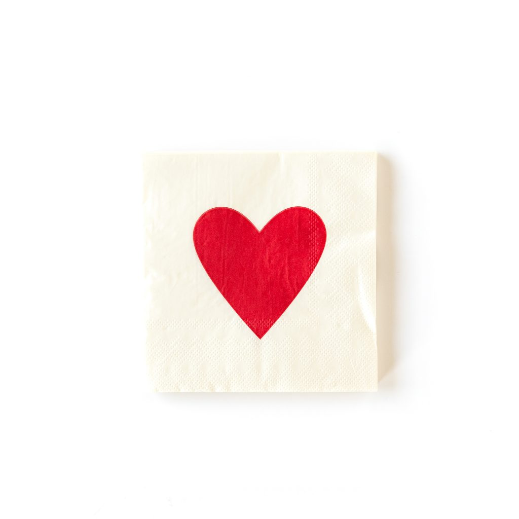 Galentine's Day Heart Napkins for a fun BFF brunch