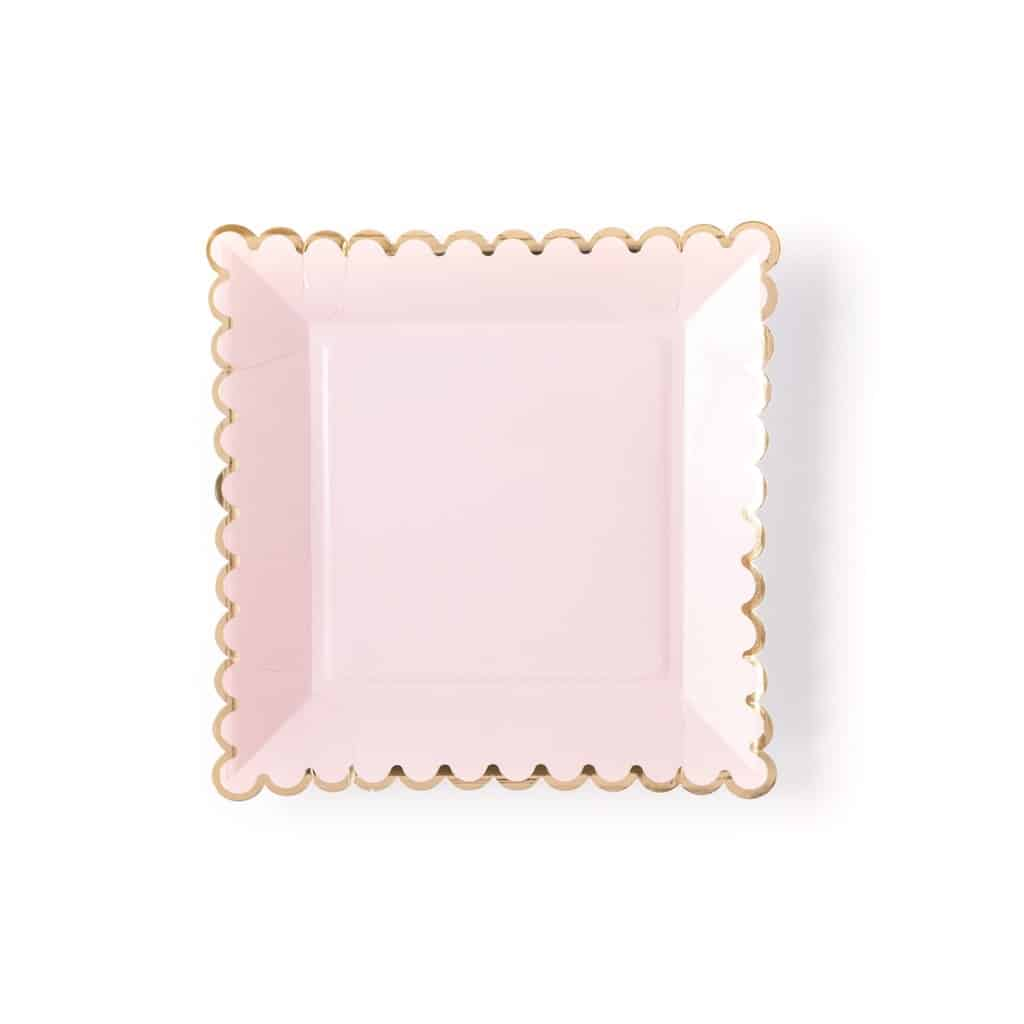 Galentine's Day Decor and Tableware - sweet pink scalloped paper plates