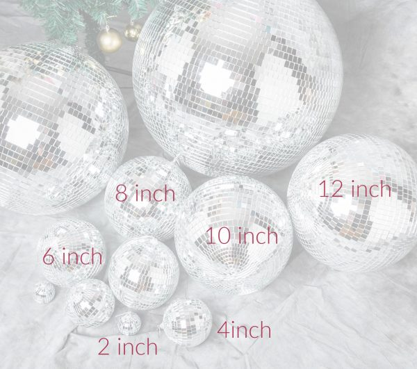 Mirrored Disco Balls for disco party or New Year's Eve party, also in ornament size
