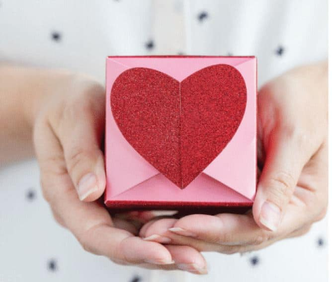 Heart Shaped Valentine Boxes for Galentine's Day Party Favors