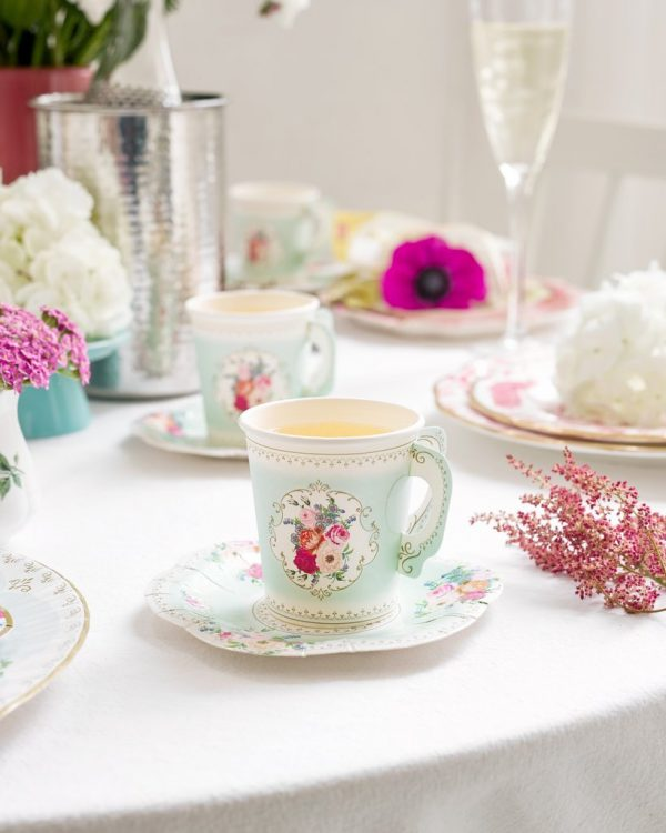 Teacups for a tea for two or tea party bridal shower