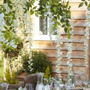 Wisteria Artificial Vines for Backdrops weddings and party decorations