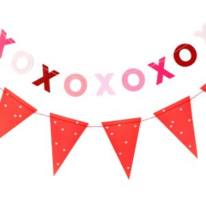 XOXO Banner and Valentine's Day Pennant Banner
