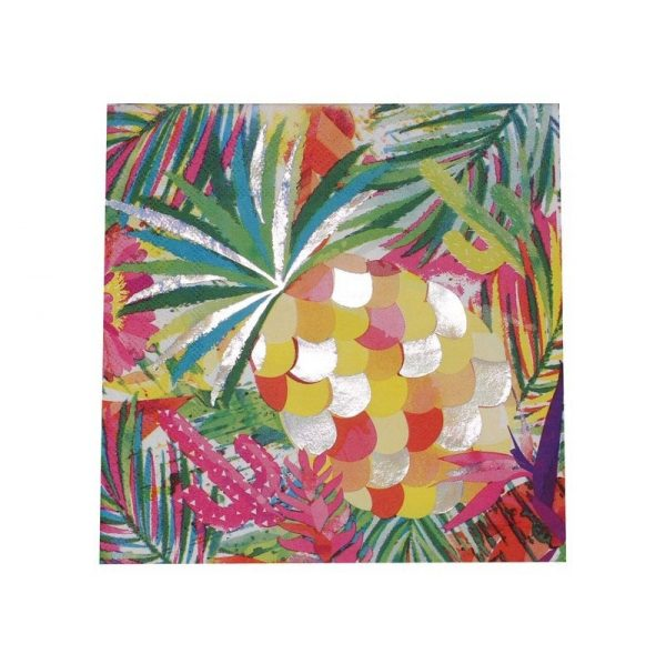Pineapple cocktail napkins