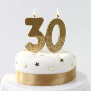 Gold Number Birthday Candles
