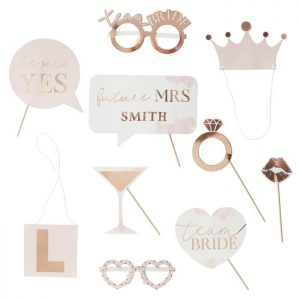 Bridal Shower Photo Props are Fun for a Virtual Bridal Shower or Zoom Event