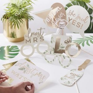 Bridal Shower Photo Props set that matches our line of extensive photo booth backdrops and frame.